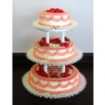 3-tier Pillared Pink & White